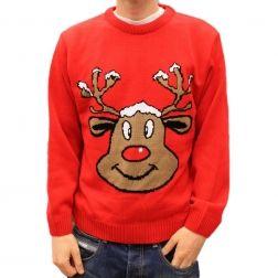 Uśmiechnięty #renifer każdego wprowadzi w #świąteczny nastrój, takiego #prezentu nie powstydziłby się nawet Święty #Mikołaj. http://swetryswiateczne.pl/pl/