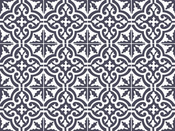 Etsy の Tile decal: Moroccan tile pattern 44 pcs by Bleucoin