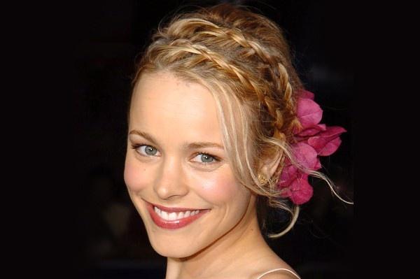 Rachel McAdams braids and flower hurr: Braids Hairstyles, French Braids, Mcadams Braids, Long Hairstyles, Beautiful, Double Braids, Romantic Hairstyles, Rachel Mcadams, Flower