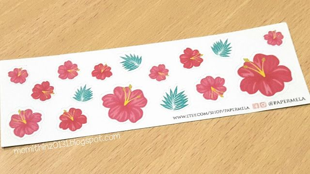 Decorative Hibiscus Collection Planner Stickers