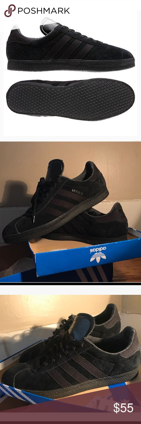 Men's Adidas Originals Gazelle 2.0 Adidas Gazelle II(Black Pack.) Like new condition. Only worn 3 times. Soft Suede upper, rubber outsole. Men's size 12. Will be in original box w/ tags included Adidas Shoes