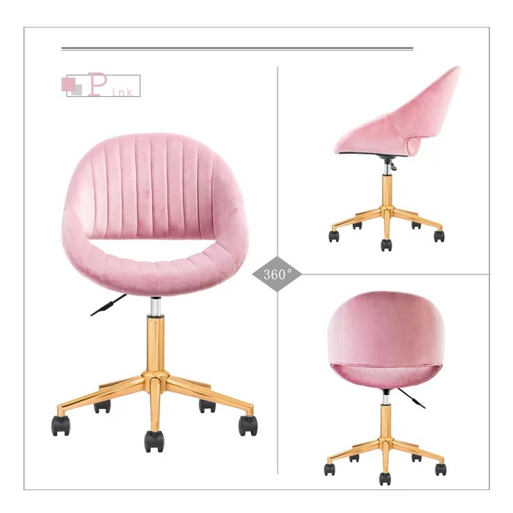 pink tufted task chair