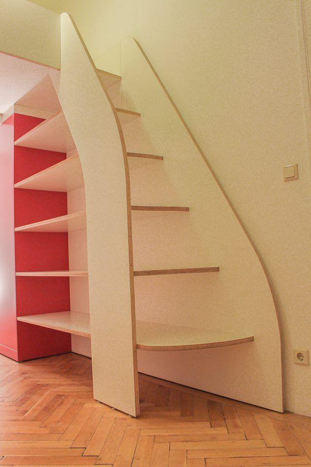 Aufgang Zum Neuen Schlafbereich Regal Treppe Schrank Aus Einem