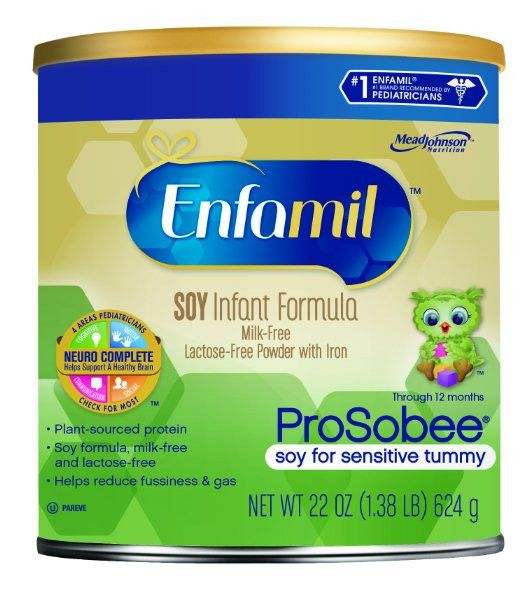 Enfamil Prosobee Soy Infant Formula Powder with Iron, 22 Ounce (Pack of 4)