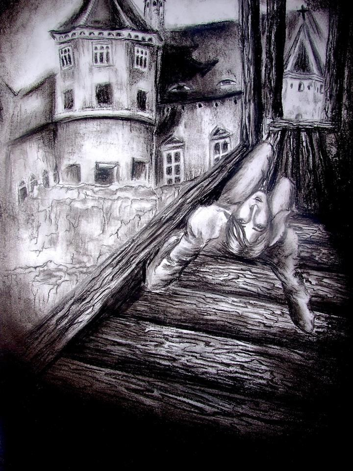 """""""Do you remember...?"""" - charcoal on paper - By ThierryJoKane"""