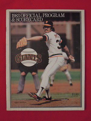 1983 San Francisco Giants vs Chicago Cubs Scored Baseball Program