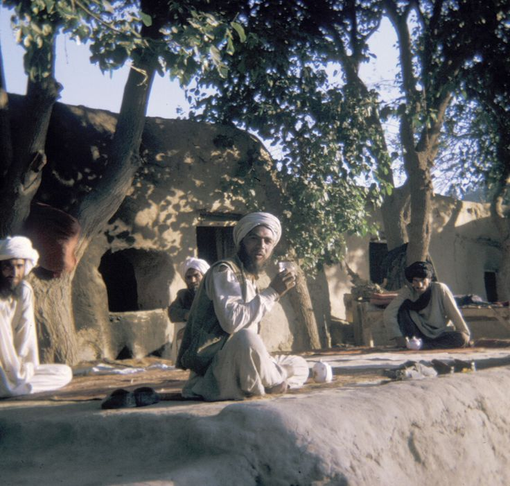 A Tea House In A Hill Town Outside Kabul Afghanistan Taken In