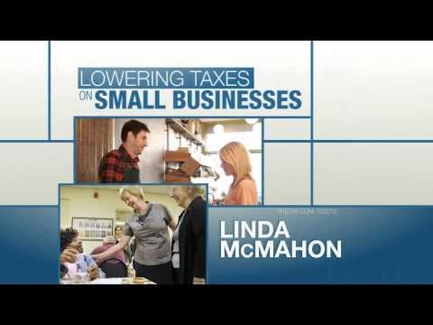 """""""Linda McMahon Makes Sense for Connecticut"""" from the U.S. Chamber of Commerce supports the Republican candidate for U.S. Senate. 10/19/12"""