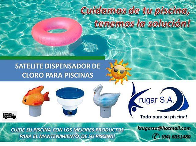 Cuidamos de tu piscina, tenemos la solución!  Satelite dispensador de cloro para piscina, disponible en varios modelos.  Porque en Krugar S.A. contamos con los mejores productos para el mantenimiento de su piscina o jacuzzi, que espera? llámenos hoy mismo al04 6051480o vía email: krugarsa@hotmail.com  #piscinas #ecuador #gye #vialacosta #viasamborondon #guayaquil #enviogratis #jacuzzis #piscinaencasa #salinas #bombasdeagua #filtros #quimicos #clorinadores #jacuzzis #piscina…