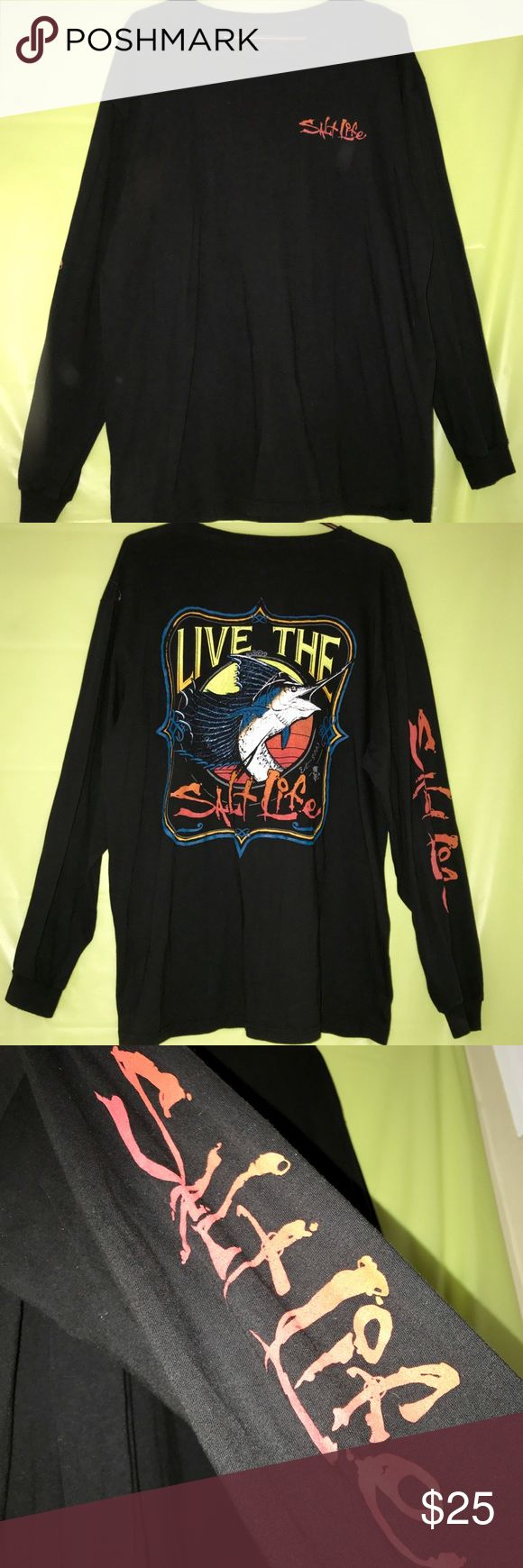 Salt Life long sleeve shirt Only worn twice, pairs great with jeans and boots, and super comfy! Salt Life Shirts Tees - Long Sleeve