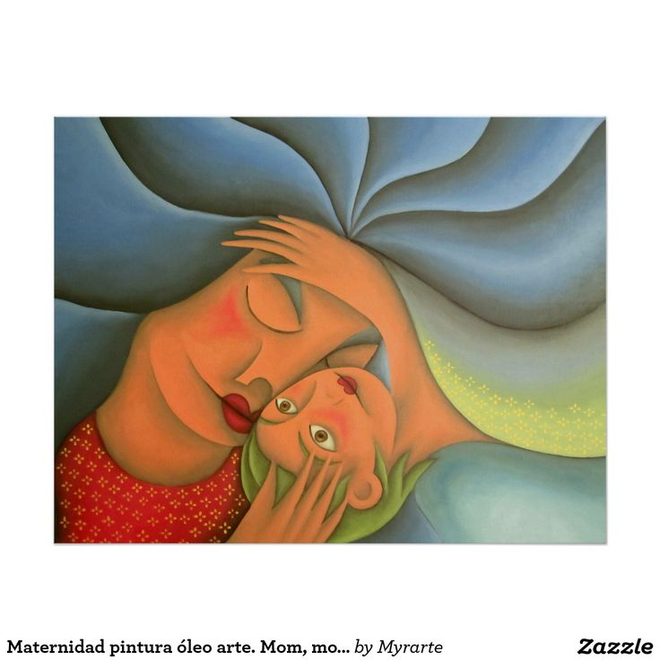 Maternidad pintura óleo arte. Mom, mother. Producto disponible en tienda Zazzle. Product available in Zazzle store. Regalos, Gifts. Link to product: http://www.zazzle.com/maternidad_pintura_oleo_arte_mom_mother_poster-228053445144195764?CMPN=shareicon&lang=en&social=true&rf=238167879144476949 #poster #mother #madre #mom #maternity
