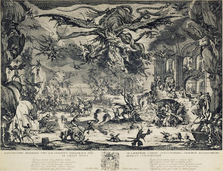 Jacques Callot, christianity & religious drawings - Temptation of St Antony