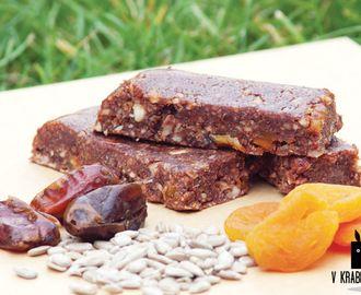 Domácí raw čokoládové tyčinky s baobabem a sušeným ovocem