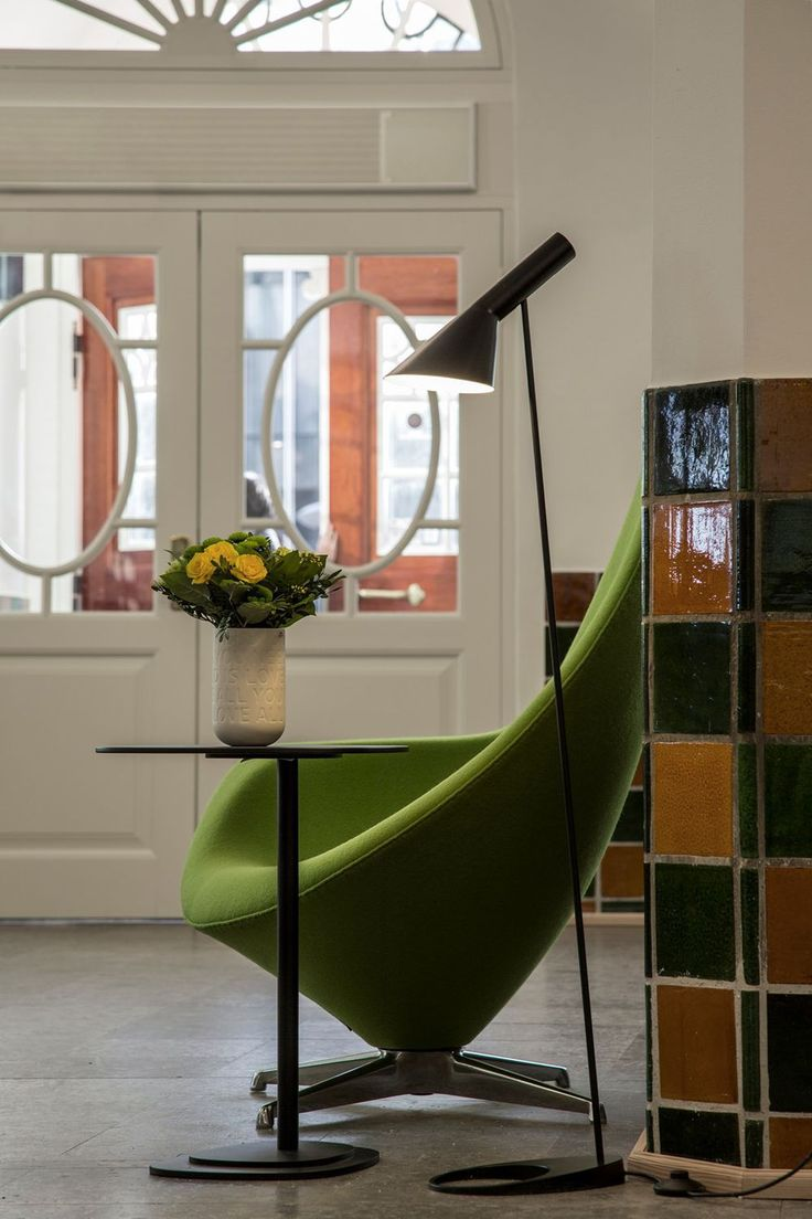 Floor-standing lamp / original design / steel / black AJ Louis Poulsen Lighting A/S International
