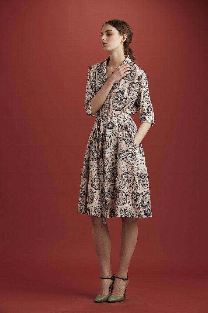 Monsoon dress, silk cdc, glacier