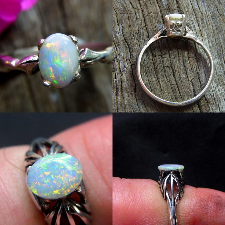 Just sold these two Solid Australian Opal Rings in Sterling Silver. See all at www.gemniopals.com.au and click on 'Online Store' All cut polished and set in Maldon Victoria Australia by Yours truly!