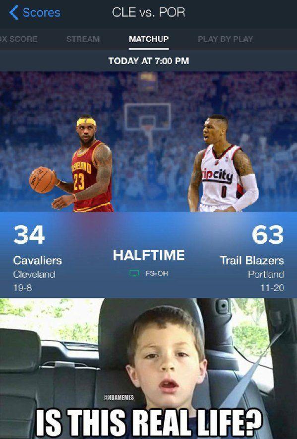 RT @NBAMemes: Blazer haben heute Abend die Cavs getroffen. (über @ClutchPoints …   – Basketball Pictures