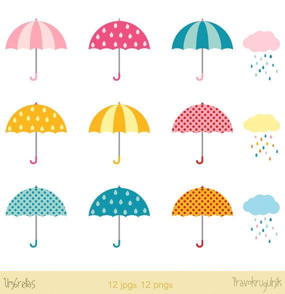 a6337d045 Umbrellas clipart clip art, Rainy clouds clipart, Rainy day clipart,  Weather graphics clipart, Baby shower clip art, Bridal shower clipart