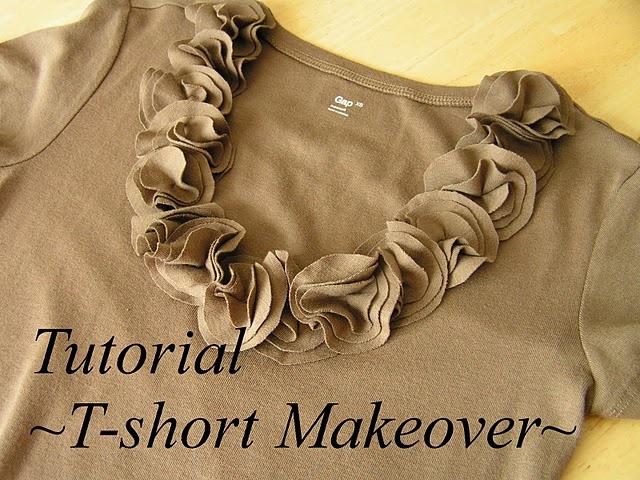 t-shirt: Tshirt Makeover, Craft, Tshirtmakeover, Tshirts, Tea Roses, T Shirts, Refashion