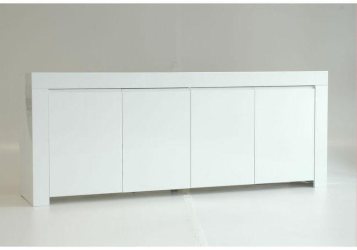 Sideboard in Weiss echt hochglanz lackiert Woody 12-00365