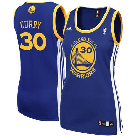 Women's Stephen Curry jerseys in S, M, L, XL, plus XL, XXL, 3X. Also Golden State Warriors plus t-shirts, hoodies, jackets for the ladies.
