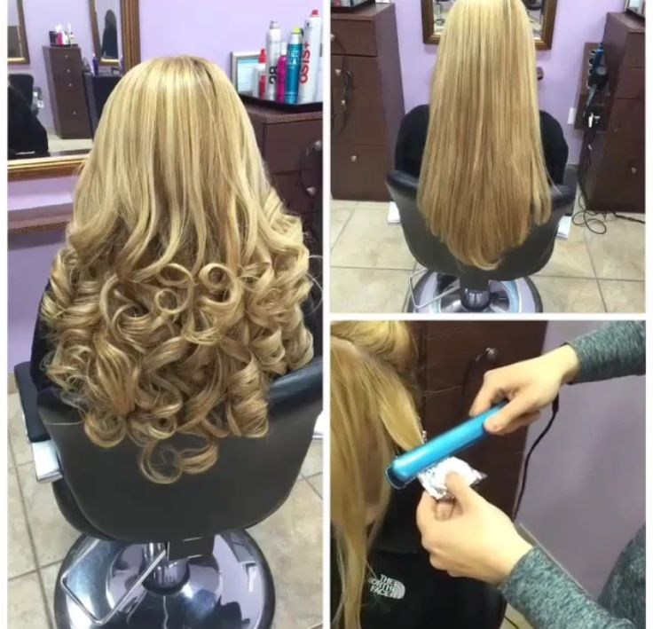 style hair flat iron curl hair with less damage with the use of foil and a 6537