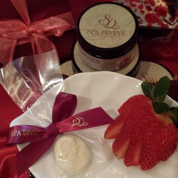 Sweet Private Reserve!  Sparkling Beverage, exquisite Signature Chocolates & fresh organic Strawberries.  Yours!...with your favorite Spa Treatments of choice, throughout this entire LOVE month of February.  You are Divine!