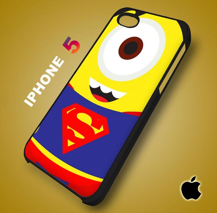 Despicable Me Avengers Superman Minion iPhone 5 Case Durable Plastic