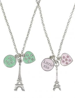 Eiffel Tower Sister Necklace