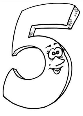 Belajar Mewarnai Gambar Untuk Anak Anak Dengan Angka 5 (lima)