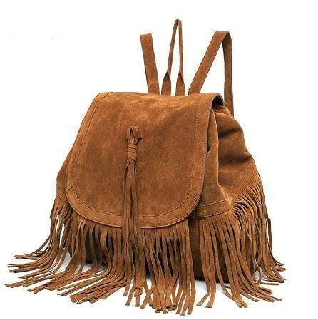 Fringe Boho Backpack Boho Handbag Bohemian Leather Fringe