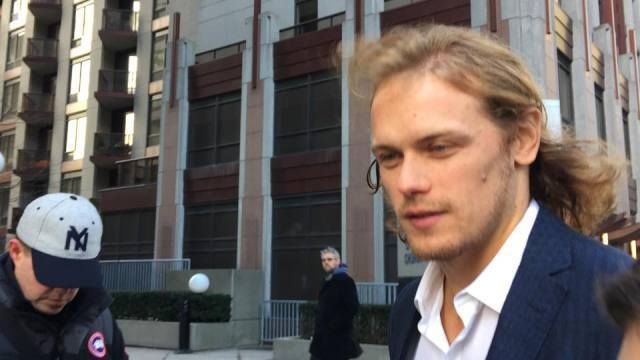 Pics of Sam Heughan at The Morning Show in Toronto Today | Outlander Online