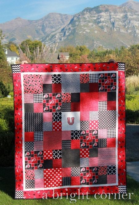 University of Utah quilt.  Love this. Would need to make it in my alma mater colors