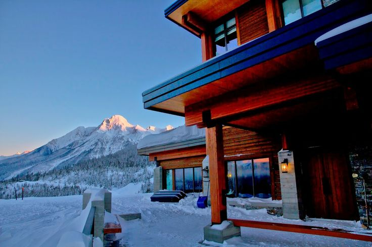 The View from the Lodge at Mica Heliskiing