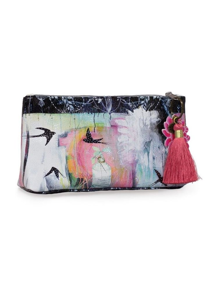 Tassel Clutchs are a vibrant carry-all. Pretty enough to use as an everyday clutch and durable enough for organizing makeup, jewelry, art supplies and more. Tassel Clutch come with a coordinating luxury tassel and lotus charm which can be removed and used as a key chain. #cosmeticbag #clutch #accessoriesclutch # accesoriesbag #clutchbag #cosmeticcase
