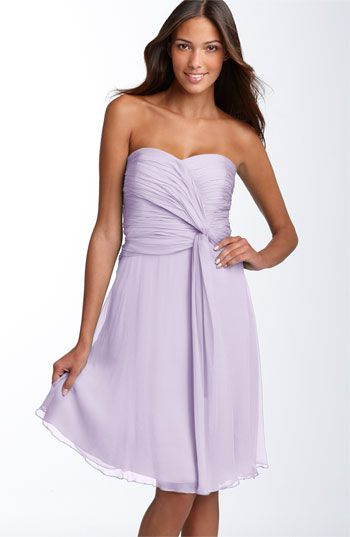 Love the color: Details Chiffon, Homecoming Dresses, Party Dresses, Twists Details, Brown Morgan, Weddings Bridesmaid Dresses, The Dresses, Chiffon Dresses, Yellow Bridesmaid Dresses