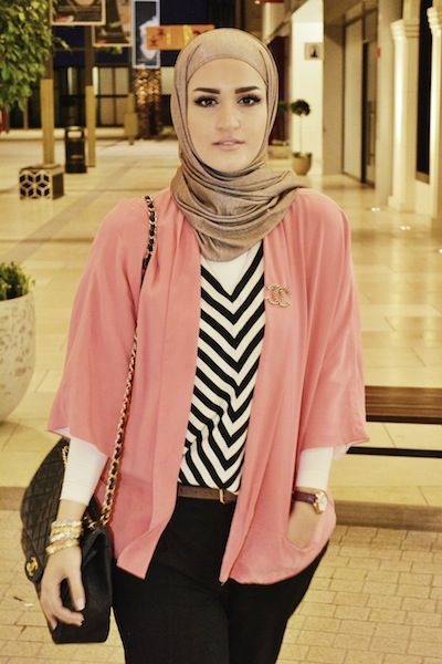 Neat and pretty Hijab style. Cool outfit!