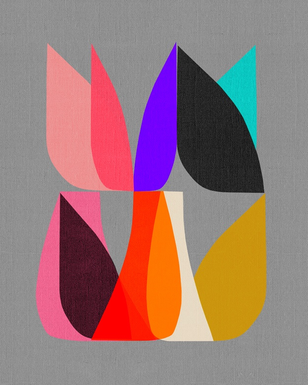 inaluxe: b l o s s o m: Colour, Patterns, Color Inspiration, Graphics Designillustr, Bright Color, Art Idea, Art Prints, Inalux Prints, Blossoms