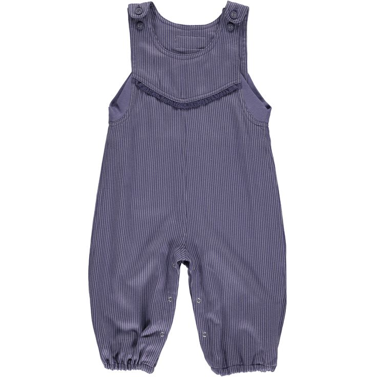 Okker-Gokker organic GOTS certified, made in India, 100% Organic Cotton.  Soft woven twill, purple overalls, purple buttons, adjustable straps, press studs on inner leg, purple cotton lace detail across chest, stretch cotton underarm insert, with elasticised ankle.  $67.95 http://www.danskkids.com.au/collections/spring-summer-2015/products/okker-gokker-purple-twill-overalls