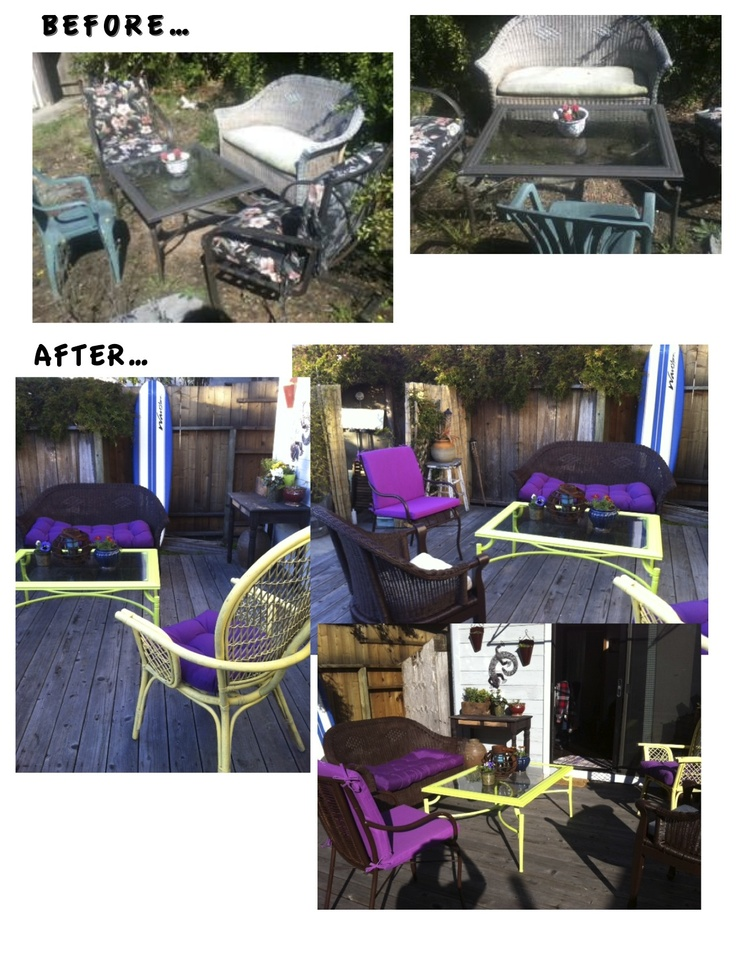 Patio Furniture Rehab project successful Oh Yea Furniture redo