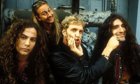 Alice in Chains ... Mike Starr, Jerry Cantrell, Layne Staley and Shawn Kinney. Photograph: Marty Temme/WireImage