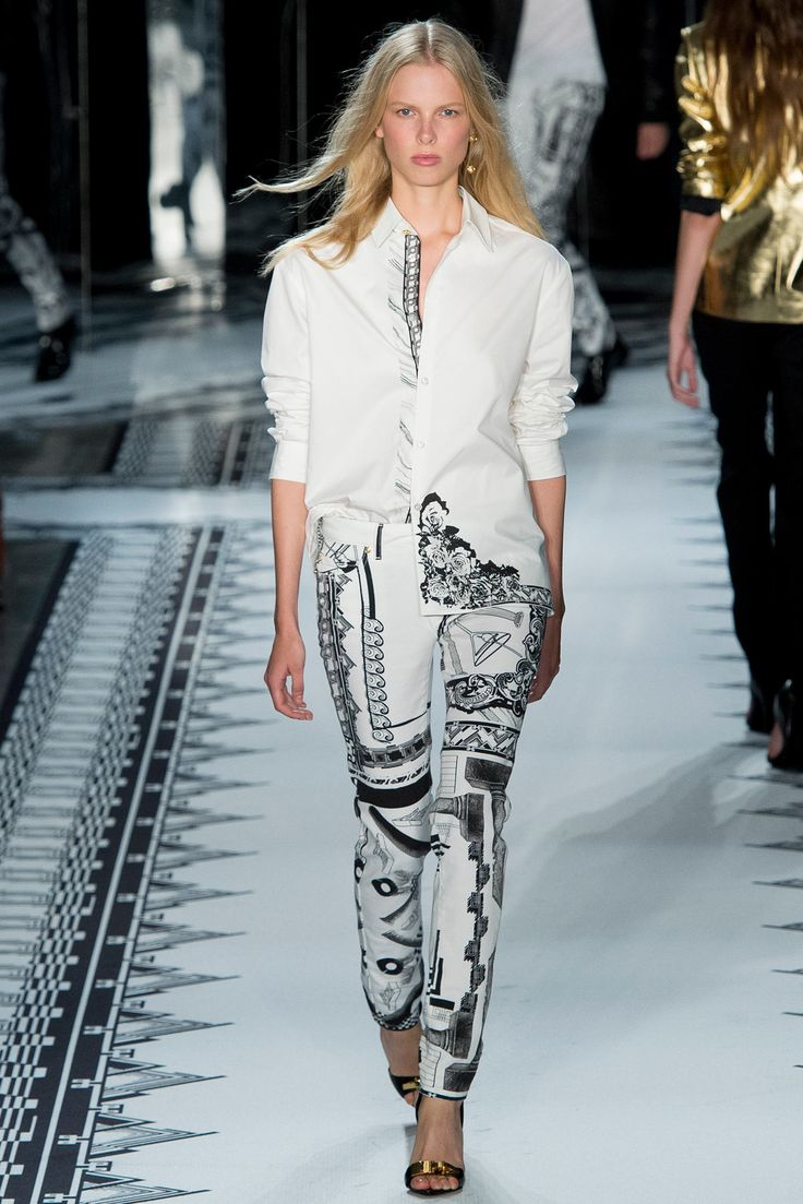 faux leather jackets Versus Versace Spring 2015 Ready to Wear Collection Photos   Vogue