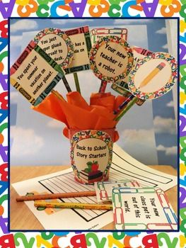 Back to school story starters for daily writing centers