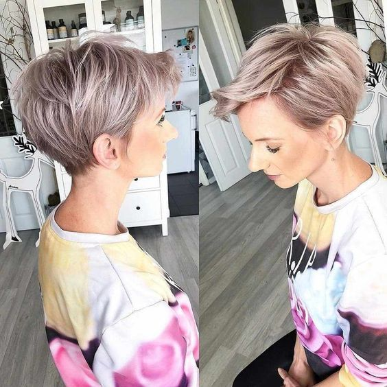 Hairstyle Trend Best Very Short Haircuts For Women 2020 In 2020 Longer Pixie Haircut Long Pixie Hairstyles Thick Hair Styles