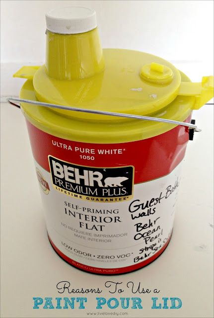 use a paint pour lid on paint cans for mess free pouring of paint the airtight lid makes paint. Black Bedroom Furniture Sets. Home Design Ideas