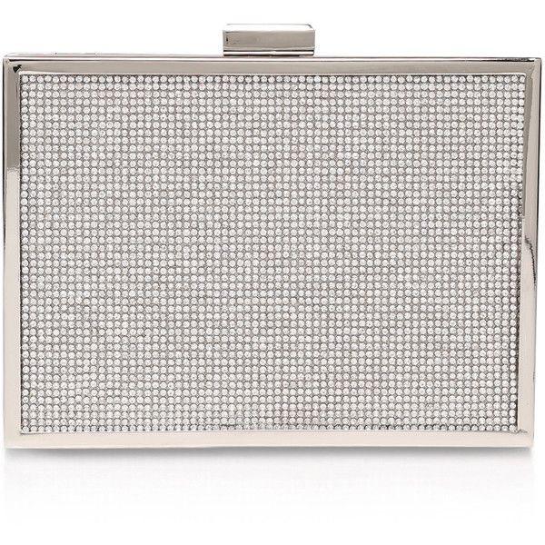 CARVELA KURT GEIGER  Destiny Silver Clutch Bag (205 RON) ❤ liked on Polyvore featuring bags, handbags, clutches and silver
