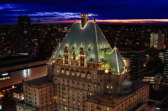 Fairmont Hotel Vancouver right down town!
