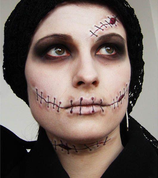 Chicas guapas con Maquillaje para Halloween. - Maquillaje para Halloween sencillo