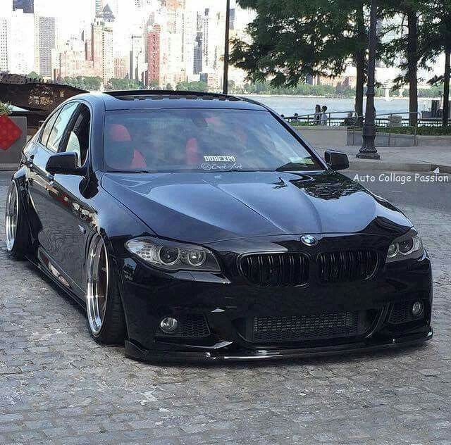 Bmw F10 Custom: BMW F10 5 Series Black Slammed