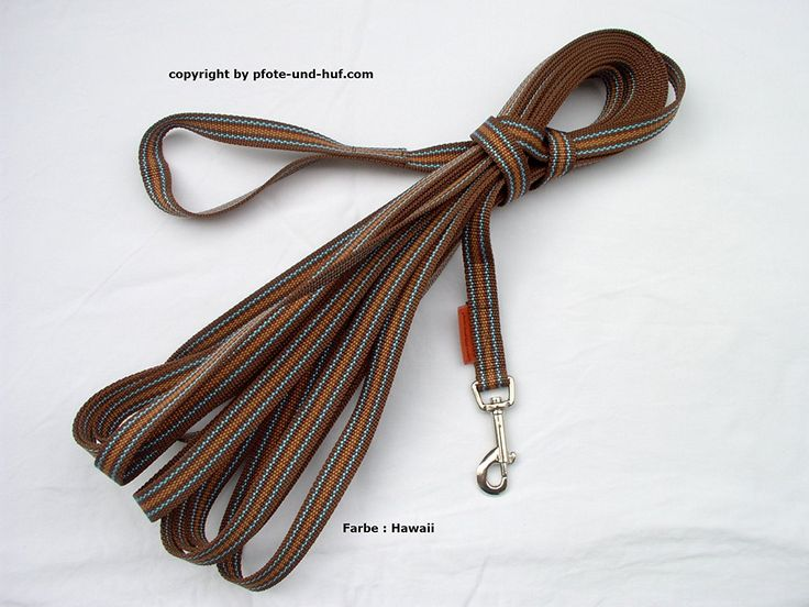 Hawaii Recall Lead 15 m x 20 mm 3 Colours Brown/Curry/Turquoise * Details can be found by clicking on the image. (This is an affiliate link) #CatCollarsHarnessesandLeads